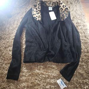 Black Cheetah Shirt-Jacket 4/40